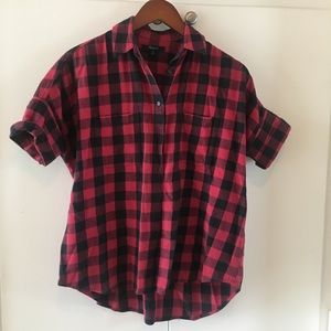 Madewell flannel courier shirt button down